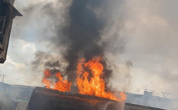 Image result for Fire guts warehouses at Iddo railway terminal